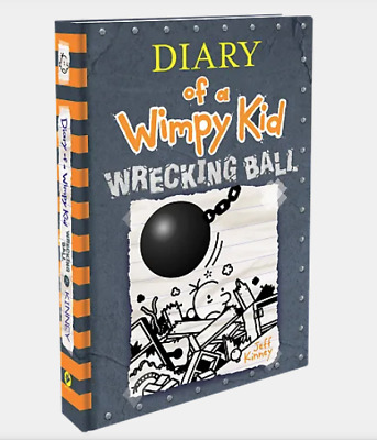 AUTOGRAPHED NEW Jeff Kinney Diary of a Wimpy Kid 14 Wrecking Ball Hardcover Book