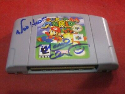 Super Mario (Nintendo 64 N64) game WORKS! **SIGNED BY CHARLES MARTINET**