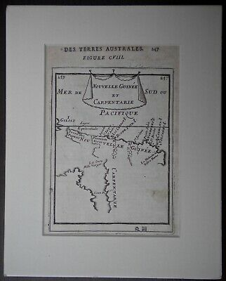 1680s MALLET MAP GENUINE EARLY MAP OF THE GULF OF CARPENTARIA AUSTRALIA