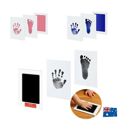 Newborn Baby Pet Wipe Safe Inkless Hand Foot Print Keepsake Kit Christmas Gift