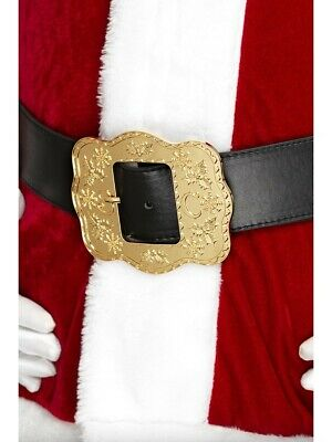 Costume Accessory Mens Xmas Father Christmas Santa Claus Deluxe Buckle Belt