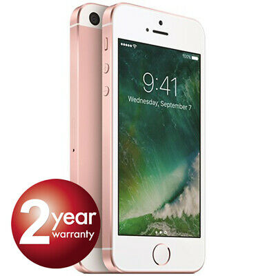New Apple iPhone se 64GB Rose Gold 2 Year Warranty Unlocked SIM Free Smartphone