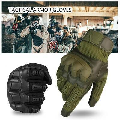 Tactical Hard Knuckle Gloves Men's Army Military Combat Airsoft Hunting Shoot UK