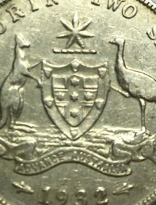 "1932 Australian Florin - Low Mintage - Very Clear ""Advance Australia"""