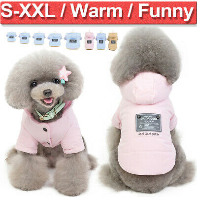 Pets Dogs Winter Warm Coat Cat Puppy Chihuahua Hooded Outwear Apparel Size S-XXL
