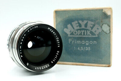 Vintage MEYER OPTIK GORLITZ PRIMAGON 35mm 4.5 Preset Lens for EXAKTA EX SLR fit