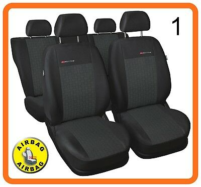 VW LUPO S LEATHER FAUX LOOK SEAT COVERS BEIGE 99-05