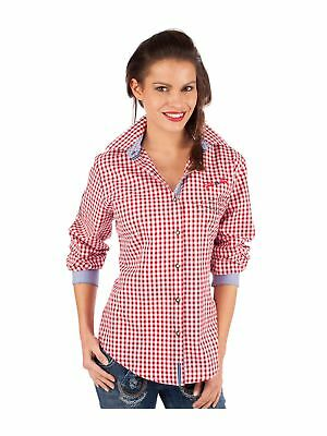 Block Check Traditional Costume Blouse Ilina Red