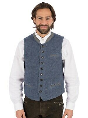 Spieth Wensky Traditional Costume Vest Stand up Collar Winner Sw Jeans Blue