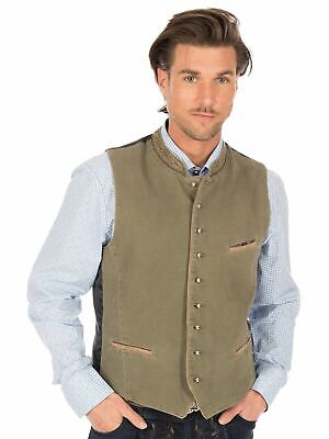 Orbis Traditional Costume Waistcoat 323000-3579 Olive with Side Pockets