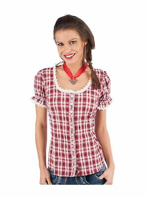 Orbis Traditional Costume Blouse 951002-3377 short Sleeve Red