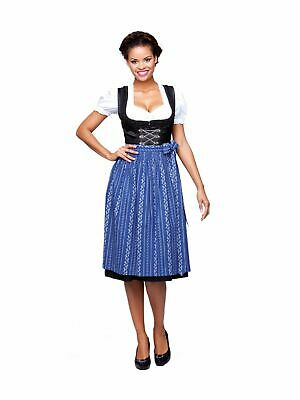 Stockerpoint Traditional Costume Dirndl Apron SC195 Royal Midi 70cm