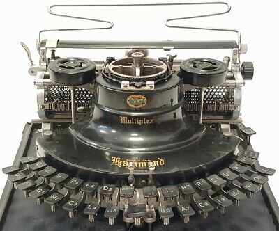 Antigua maquina de escribir HAMMOND Multiplex CURVA, antique TYPEWRITER curved