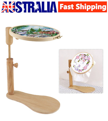 31cm-42cm Embroidery Stand Hoop Wood Cross Stitch Adjustable Frame Sewing Tool