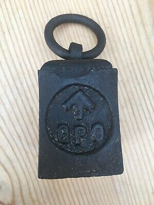 Vintage Cast Iron Ring GPO Balance Scales Weight 1 lb - Paperweight