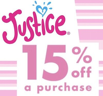 Justice 15% Off Online Order *Quick Delivery *