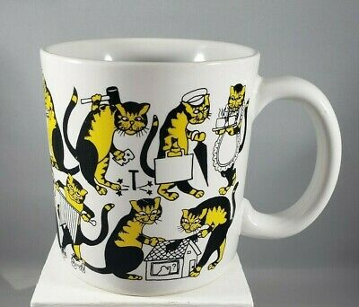 Whimsical Yellow and Black Cats Music/Sports/Cooking Coffee Mug, Unbranded