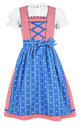 Isar Costume Children Dirndl Pauline Red Blue Blouse Traditional Costume% Sale %