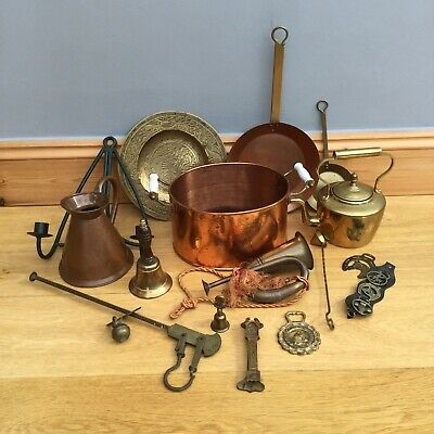Vintage Bass Copper ware Job Lot Various Antique Items 5.7kg Old  Collectables