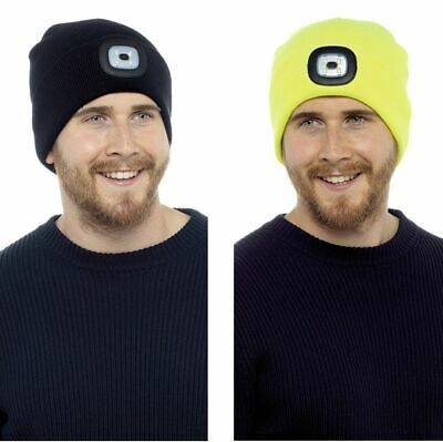 Mens LED Light Winter Beanie Hat
