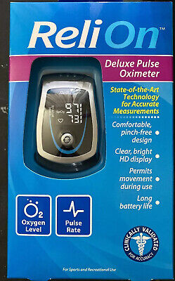 ReliOn Deluxe Pulse Oximeter PULSE OX New