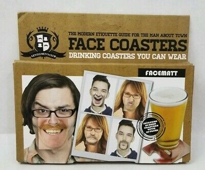 Party Face Mats Beer Coasters Mat Drinking Drinks Party Stocking Filler PP3651