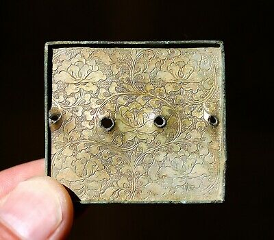 China.Liao Jin Dynasty, Bronze gilt buckle belt 10-12 century. ORIGINAL. RARE .2