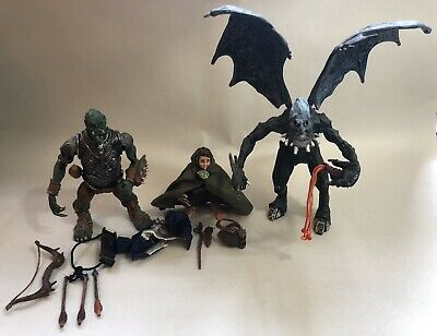 Lord of the Rings Toy Vault 1998 Balrog Frodo Ugluk COMPLETE Good Condition—