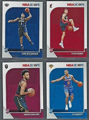 2019-20 Panini NBA Hoops ROOKIES RC 201-259 Complete Your Set