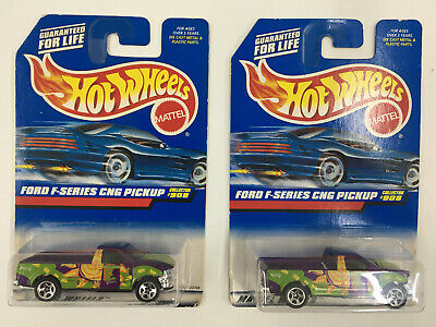 Hot Wheels Lot Of 2 Ford F-Series CNG Pickup 1999 #908 B25s