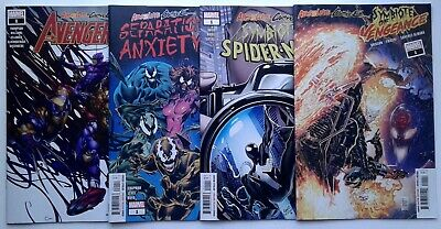 ABSOLUTE CARNAGE #1 lot of 4 Avengers Separation Anxiety Symbiote NM 1st prints