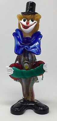 "Murano Venetian Italian Art Glass Musician Clown Accordian 10"" Vintage US Seller"
