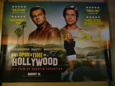 Once Upon A Time In Hollywood - Original Quad Film Poster