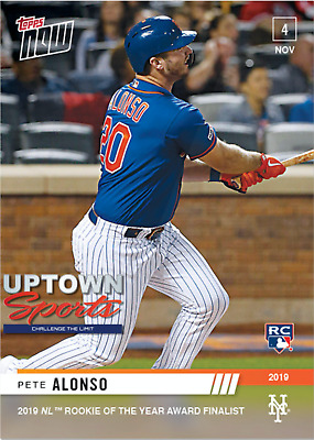 Pete Alonso - MLB TOPPS NOW® Card OS-23 - FINALIST 2019 ROOKIE OF THE YEAR