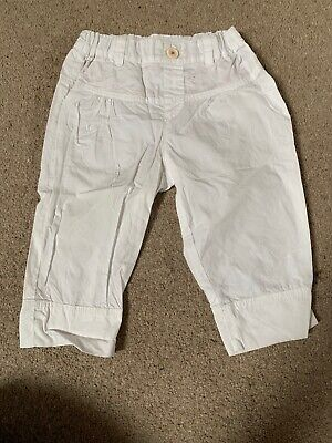 Paul Smith Junior Girls White Cropped Trousers Age 18m