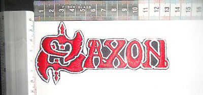 SAXON Red/White Logo EMBROIDERED PATCH (IRON ON/SEW ON)