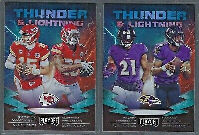 2019 Panini Playoff THUNDER & LIGHTNING Insert Complete Your Set - You Pick!