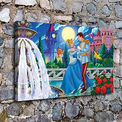 "12""x26"" Disney HD Canvas prints Painting Home Decor Picture Room Wall art Poster"