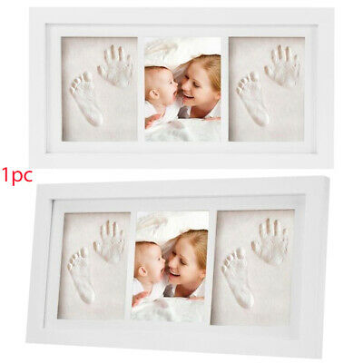 Home Decor Photo Frame Handprint Wooden Gift Growth Record Baby Footprint Kit