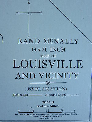 1922 Large America Map ~ Louisville City Plan Workhouse Station ~ Rand Mcnally