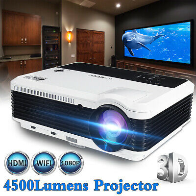 LED Smart HD Android Projector 1080P Wifi 3D Video Home Cinema HDMI VGA USB AV