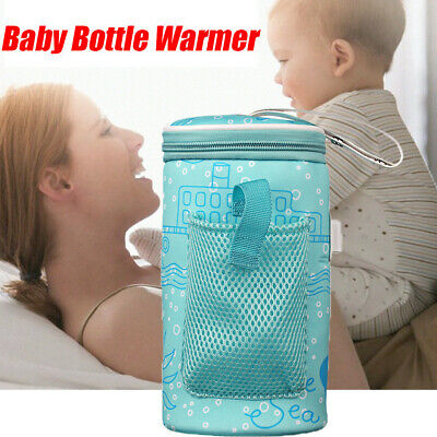 Infant Bottle Warmer Insulated Bag Travel Cup Heater Milk Thermostat