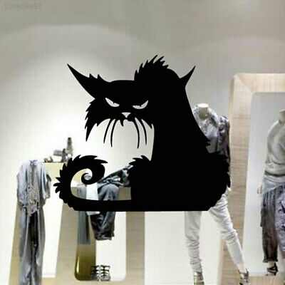DIY Fierce Cats Pattern Glass Stickers Decals Bedroom Home TV Wall Home Decor