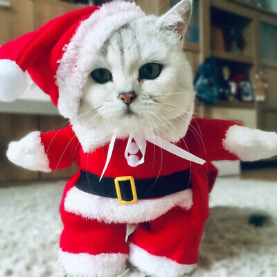 Christmas Pet Cat Dog Costumes Funny Santa Claus Jumpsuit Cosplay For Pets Puppy