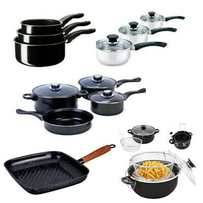 Non Stick Induction Pan Saucepan Cookware Pot Pan Frying Kitchen Set with Lid
