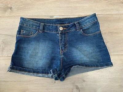 Girls Blue Denim Shorts From B Collection Size 10