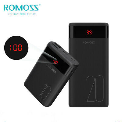 ROMOSS LCD Power Bank Dual USB Portable Battery Charger Backup for Mobile Phone
