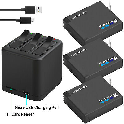 New 1400mAh Battery or Triple Slot Charger for Insta360 One X Action Camera