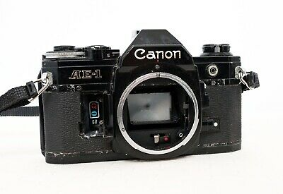 Vintage CANON AE-1 35mm film SLR camera body only with strap