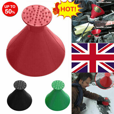 Magical Car Windshield Ice Snow Remover Scraper Cone Shaped Round Funnel Tools